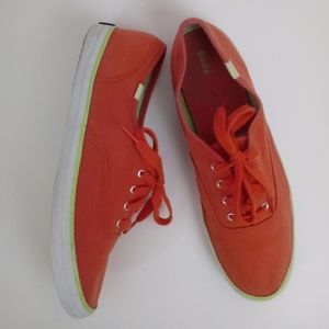 Keds Bright Pink Lime Classic Tennis Shoes 6 GUC